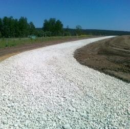 Использование известнякового щебня при строительстве дорог
