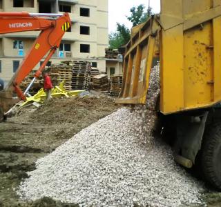 Использование известкового щебня при строительстве фундамента