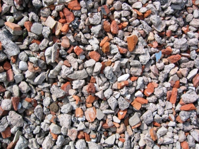 Вторичный щебень из кирпича и бетона