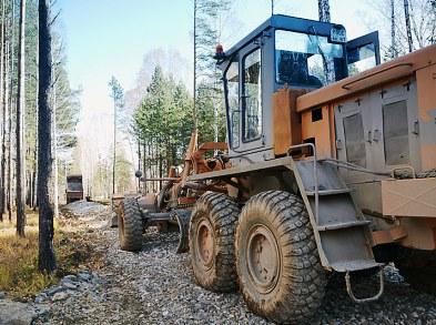 Строительство дороги из щебня